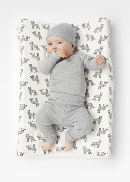 newborn-prematuur overslagromper bamboe stretch grijsmelange 68 - 33491915 - HEMA