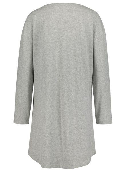 dames nachthemd middengrijs middengrijs - 1000017233 - HEMA