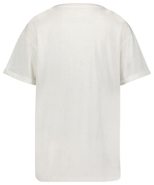 dames t-shirt wit L - 36380483 - HEMA