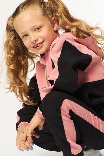 kinder capuchontrui zwart zwart - 1000024965 - HEMA