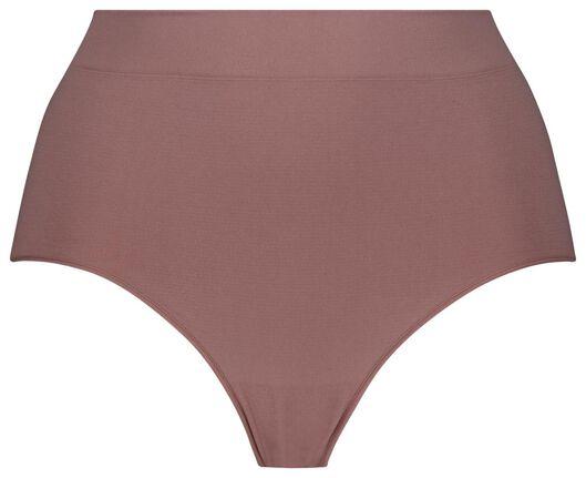damesslip hoog naadloos roze XL - 19658894 - HEMA