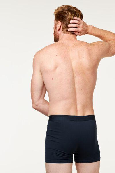 2-pak herenboxers lang real lasting cotton donkerblauw donkerblauw - 1000018783 - HEMA