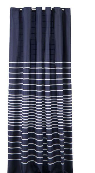 Douchegordijn 180x200cm textiel blauw/wit streep