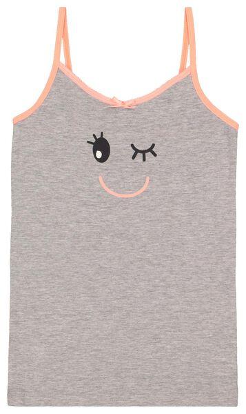 2-pak kinderhemden grijsmelange grijsmelange - 1000017795 - HEMA