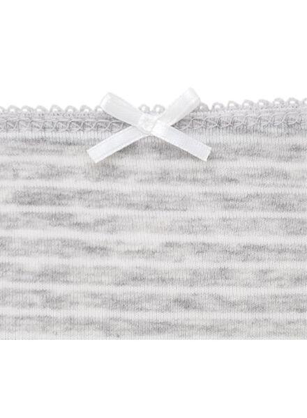 3-pak damesslips grijsmelange grijsmelange - 1000007837 - HEMA