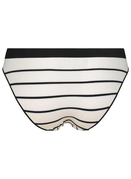 damesslip naadloos micro zwart/wit zwart/wit - 1000015706 - HEMA