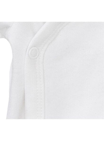 overslag romper organic katoen stretch - 2 stuks wit wit - 1000005358 - HEMA
