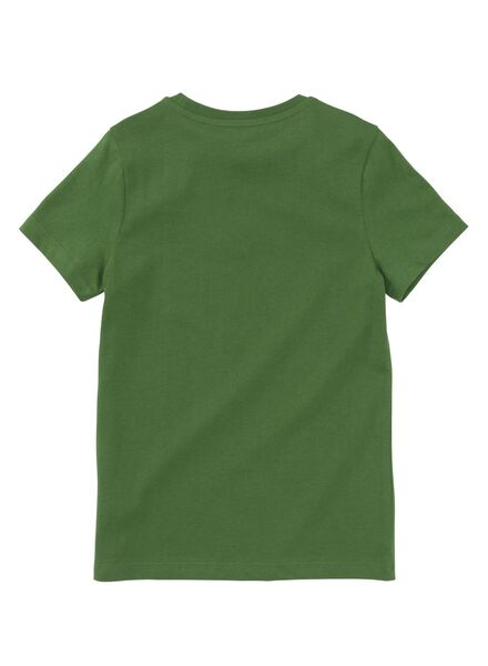kinder t-shirt middengroen - 1000008235 - HEMA