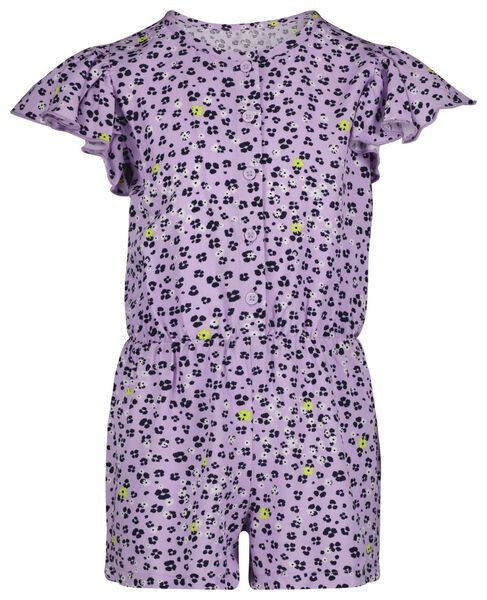 kinder jumpsuit bloemen lila lila - 1000023682 - HEMA