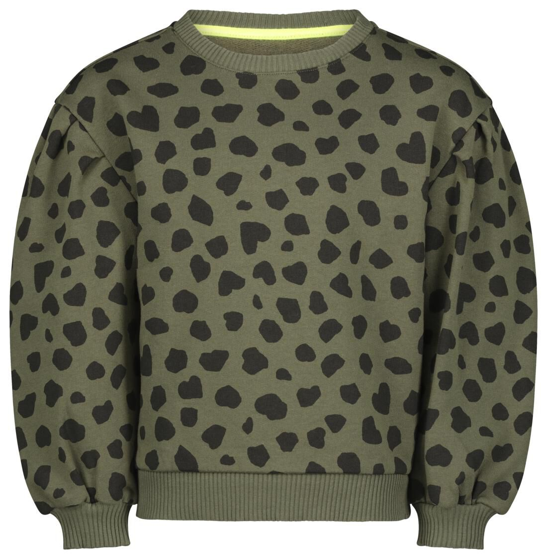 HEMA Kindersweater Ballonmouwen Legergroen (legergroen)