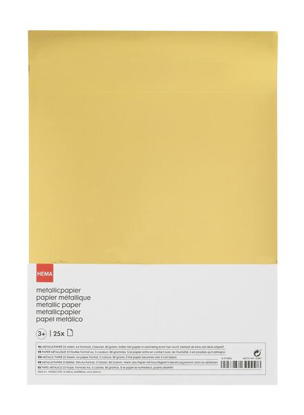 25-pak metallic papier - 15970026 - HEMA