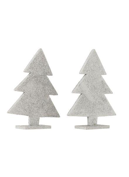 2-pak houten kerstbomen - 25103786 - HEMA