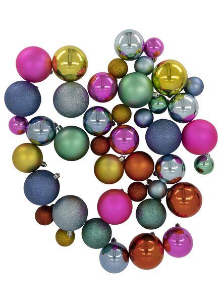kerstballen kleur - 44 stuks - 25100928 - HEMA
