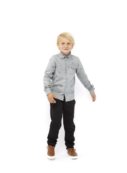kinder overhemd blauw blauw - 1000017211 - HEMA