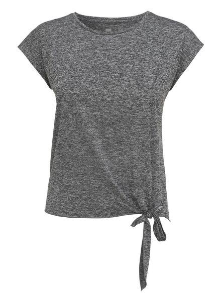 dames t-shirt grijsmelange grijsmelange - 1000010789 - HEMA