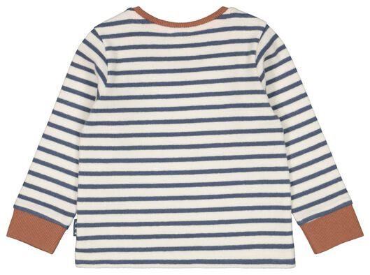 newborn t-shirt strepen gebroken wit gebroken wit - 1000022340 - HEMA