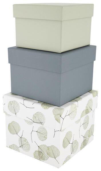 opbergdoos - karton - blad - 3 stuks - 39890051 - HEMA