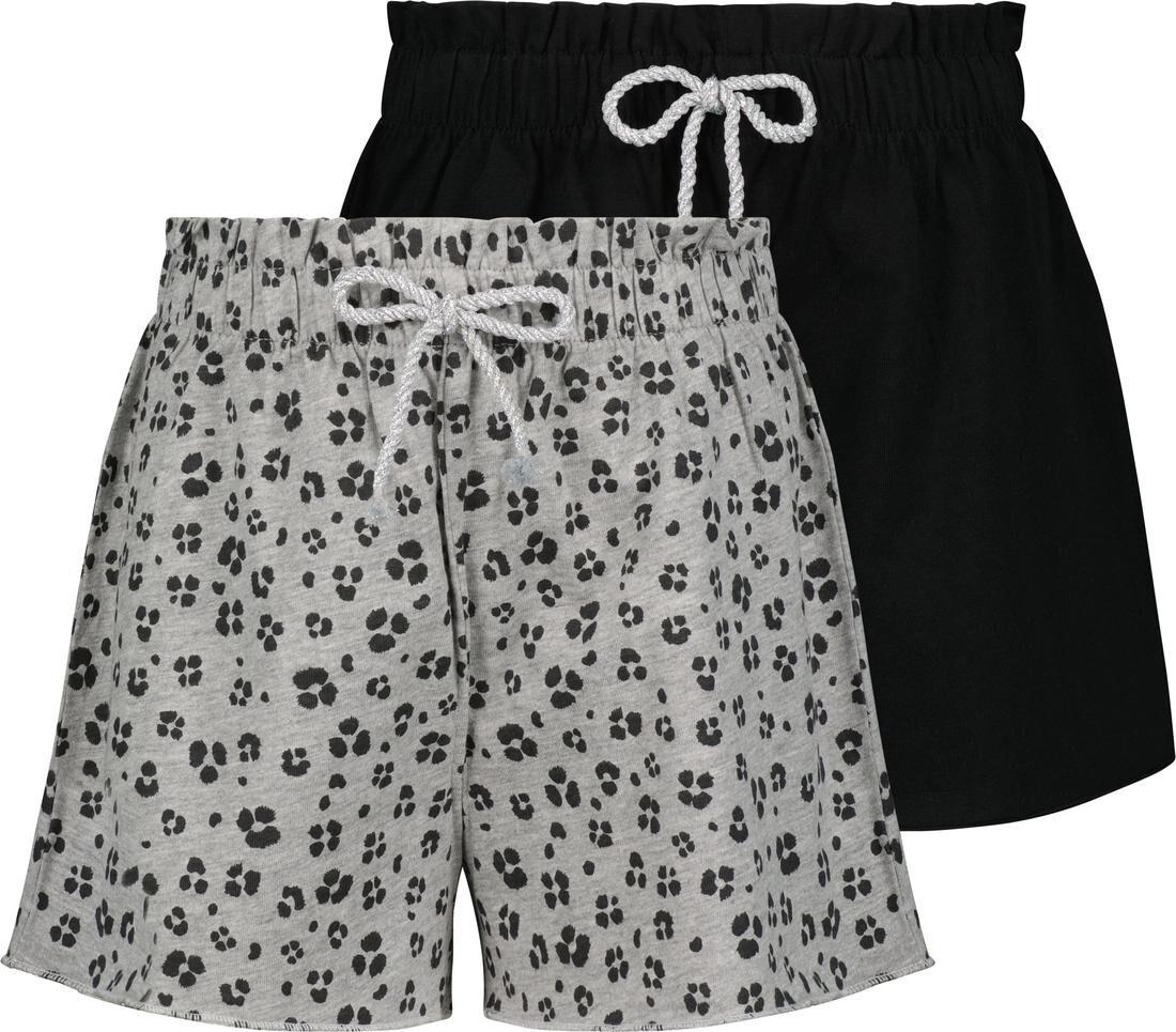 HEMA Kinder Shorts - 2 Stuks Grijs (grijs)