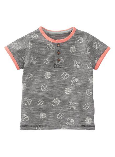 baby t-shirt grijs grijs - 1000008052 - HEMA