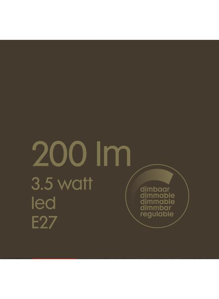 LED lamp 3,5W - 200 lm - kogel - goud - 20020081 - HEMA