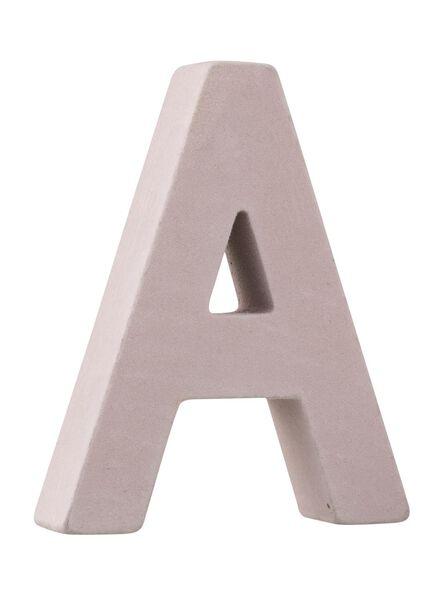 velvet letter A - 60110195 - HEMA