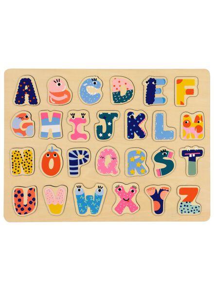 houten inlegpuzzel Ootje - letters - 15190284 - HEMA