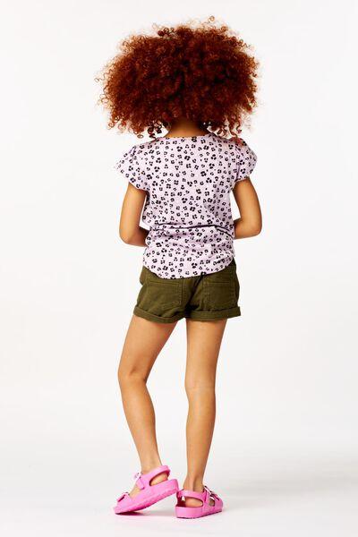 kinder t-shirt flower lila lila - 1000023628 - HEMA