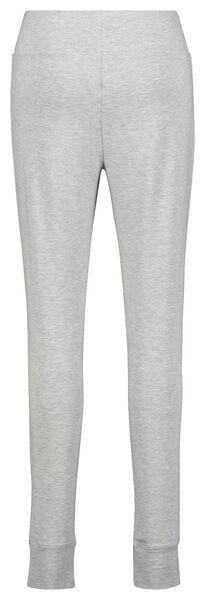 dames legging viscose fleece grijsmelange XL - 23422144 - HEMA