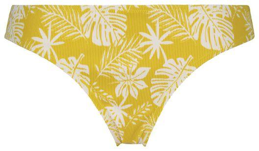 dames bikinibroekje - rib flower geel M - 22350233 - HEMA