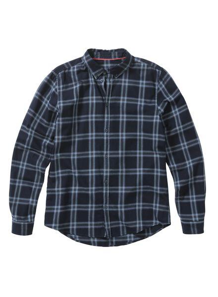 heren overhemd blauw blauw - 1000011595 - HEMA