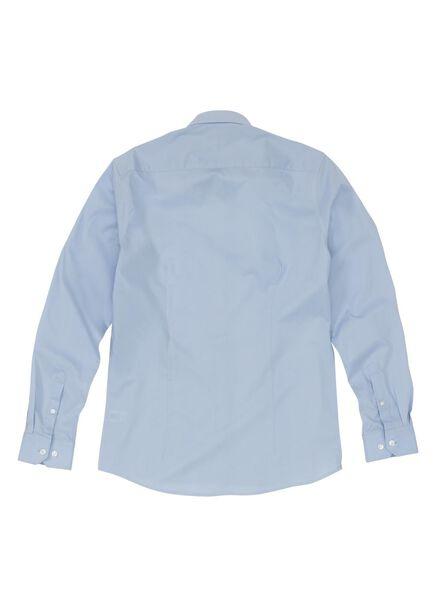 herenoverhemd slim fit lichtblauw lichtblauw - 1000000697 - HEMA