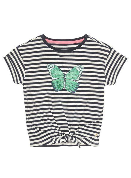 kinder t-shirt donkerblauw donkerblauw - 1000012648 - HEMA