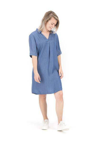 damesjurk middenblauw middenblauw - 1000014805 - HEMA