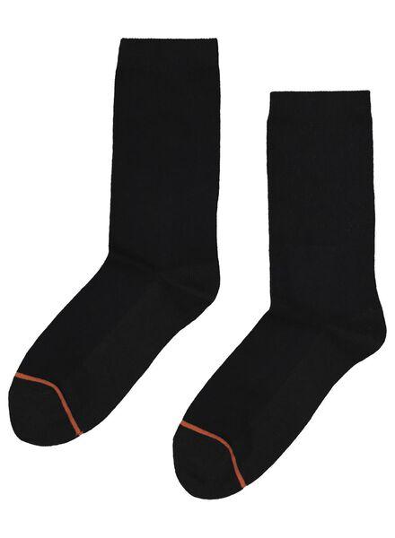 2-pak damessokken warm feet zwart zwart - 1000001720 - HEMA