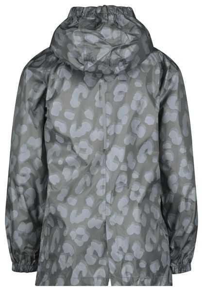 opvouwbare kinder regenjas luipaard grijs 146/152 - 18471805 - HEMA