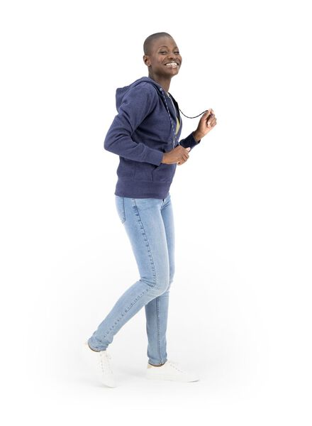 dames sweatvest donkerblauw donkerblauw - 1000014818 - HEMA