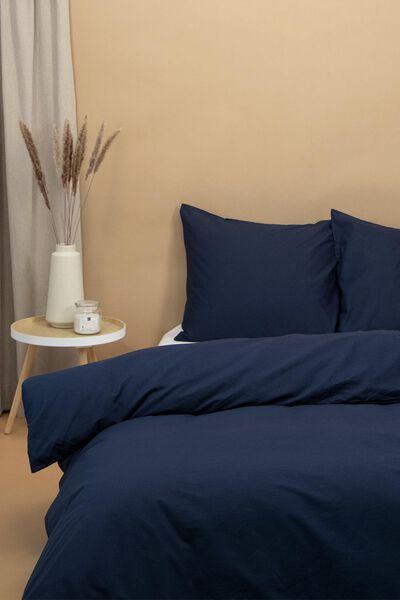 dekbedovertrek - zacht katoen - uni donkerblauw - 1000016594 - HEMA