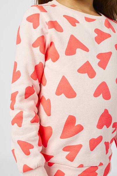 kindersweater hartjes roze roze - 1000021946 - HEMA