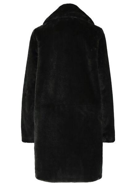 damesjas - imitatiebont zwart zwart - 1000017064 - HEMA