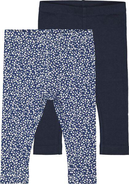 2-pak babyleggings donkerblauw donkerblauw - 1000017440 - HEMA