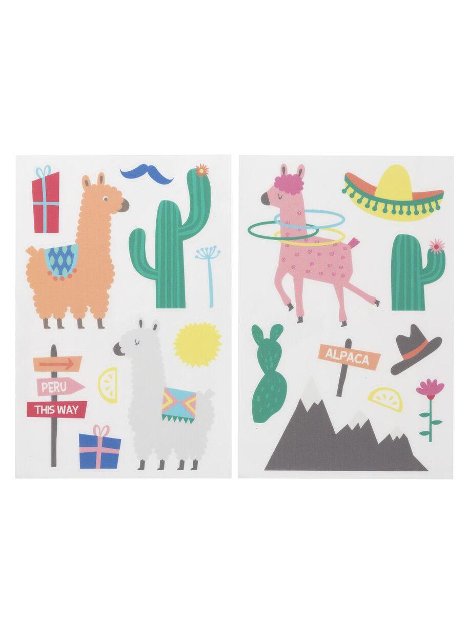 Raamstickers Voor Kinderkamer.2 Pak Raamstickers Alpaca Hema