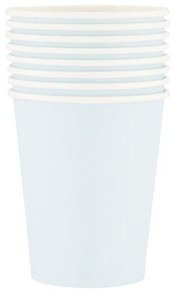 Papieren bekers - 250 ml - blauw - 8 stuks - in Wegwerpservies