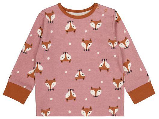 babypyjama's vos - 2 stuks roze roze - 1000024794 - HEMA