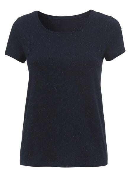 dames t-shirt donkerblauw - 1000004981 - HEMA