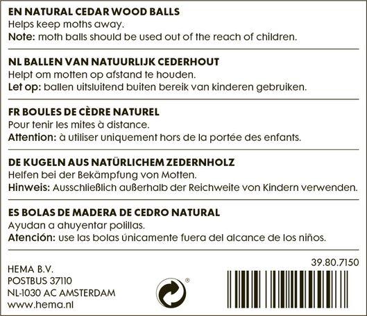 Cederhouten geurballen - in Strijken