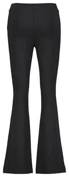 damesbroek flared zwart zwart - 1000020615 - HEMA