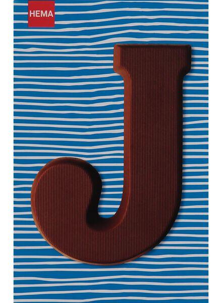 melkchocolade letter J - 10033008 - HEMA