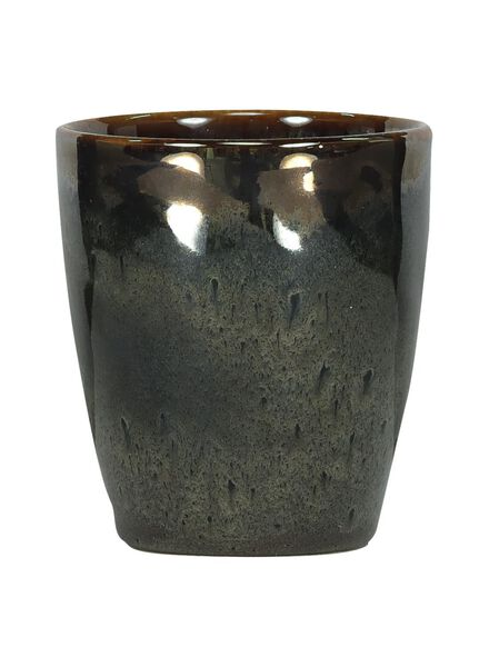 mok - 8 cm - Porto - reactief glazuur - taupe - 9602057 - HEMA