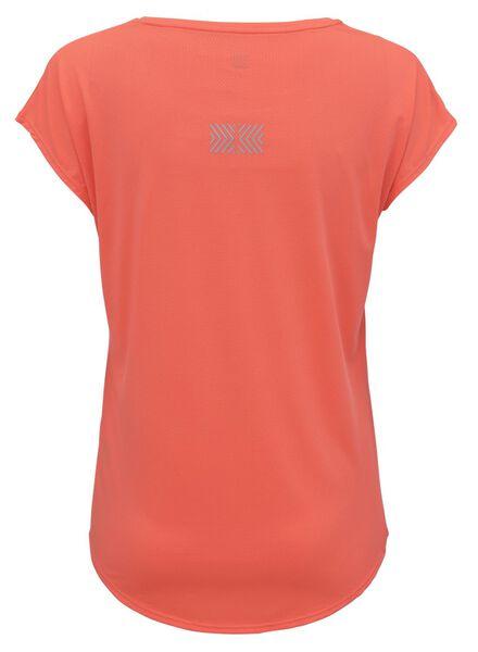 dames sportshirt koraal S - 36010072 - HEMA