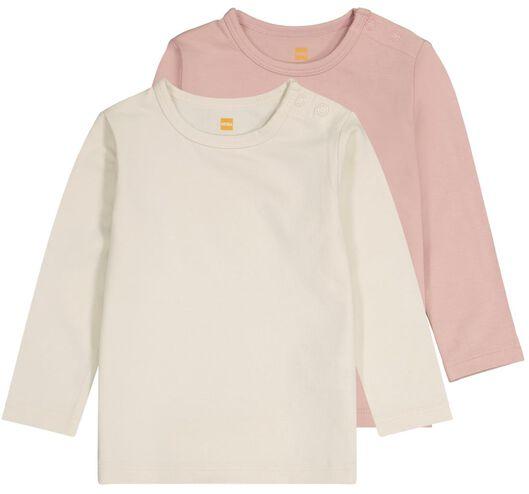 baby t-shirts met bamboe - 2 stuks roze 68 - 33043942 - HEMA
